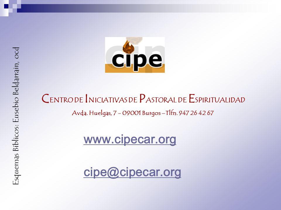C ENTRO DE I NICIATIVAS DE P ASTORAL DE E SPIRITUALIDAD Avda. Huelgas, 7 - 09001 Burgos –Tlfn. 947 26 42 67 www.cipecar.org cipe@cipecar.org Esquemas