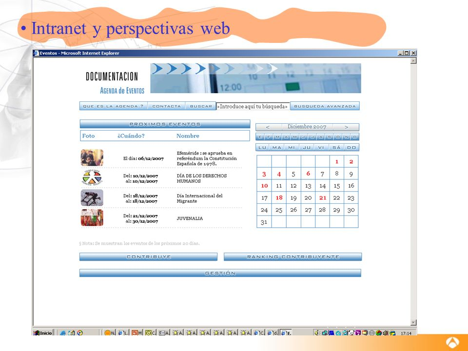 Intranet y perspectivas web