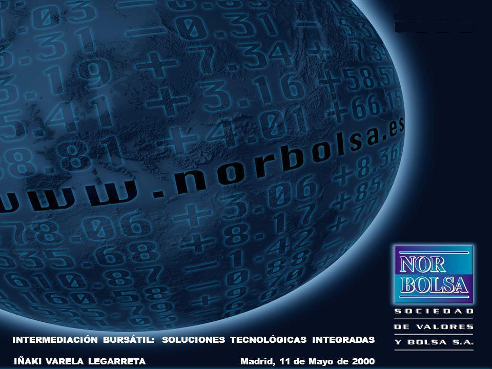 INTERMEDIACIÓN BURSÁTIL: SOLUCIONES TECNOLÓGICAS INTEGRADAS IÑAKI VARELA LEGARRETA Madrid, 11 de Mayo de 2000