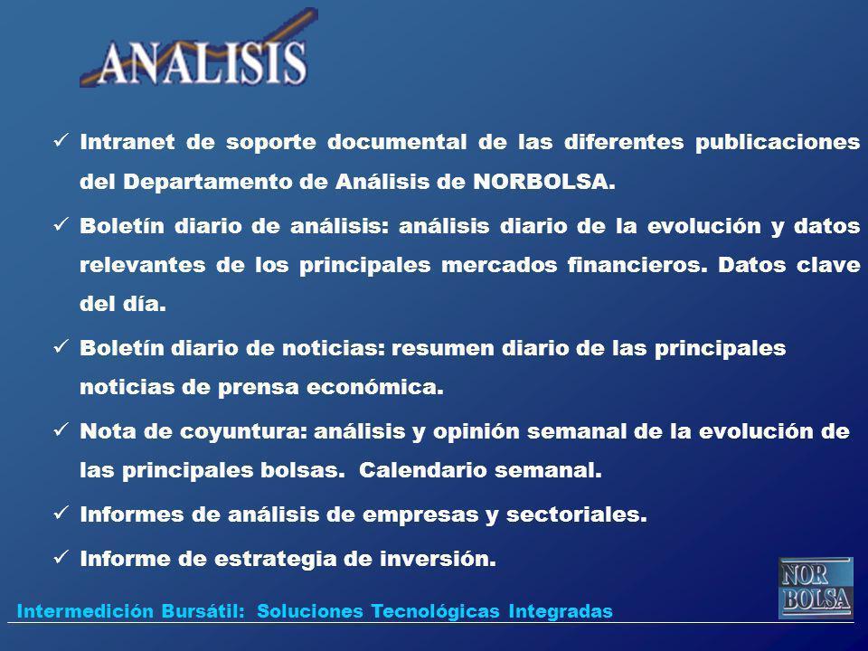Intranet de soporte documental de las diferentes publicaciones del Departamento de Análisis de NORBOLSA. Boletín diario de análisis: análisis diario d