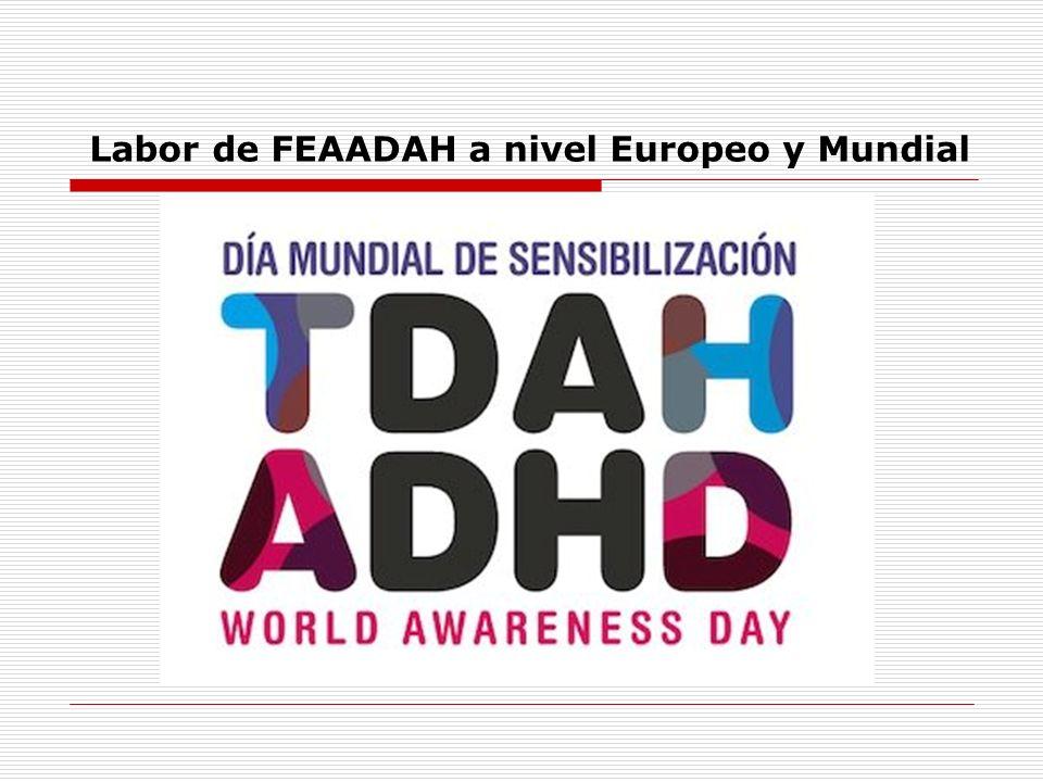 Labor de FEAADAH a nivel Europeo y Mundial