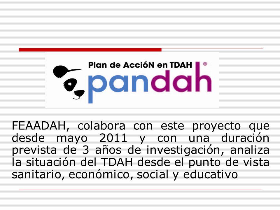 FEAADAH, colabora con este proyecto que desde mayo 2011 y con una duración prevista de 3 años de investigación, analiza la situación del TDAH desde el punto de vista sanitario, económico, social y educativo