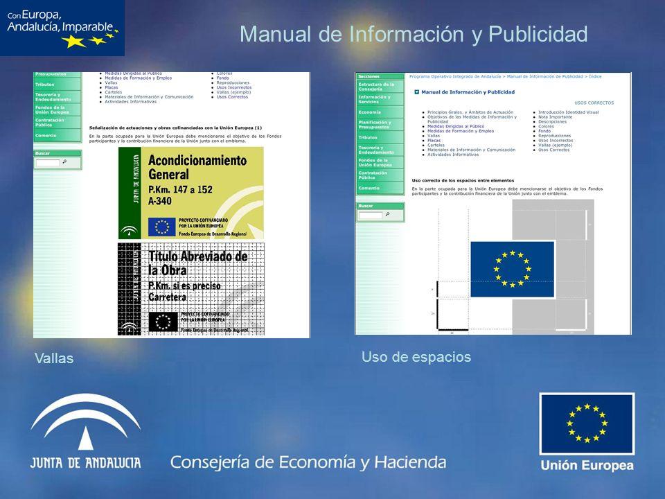 Manual de Información y Publicidad Vallas Uso de espacios