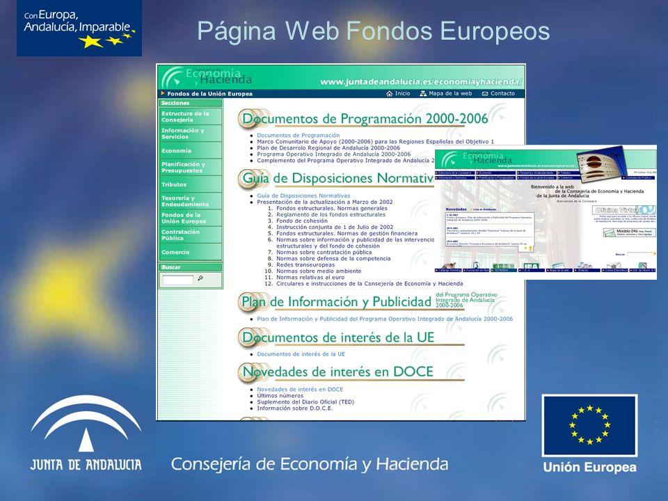 Página Web Fondos Europeos