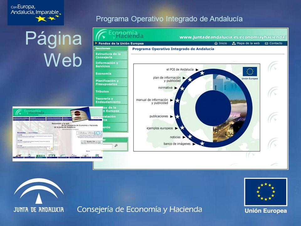 Página Web Programa Operativo Integrado de Andalucía