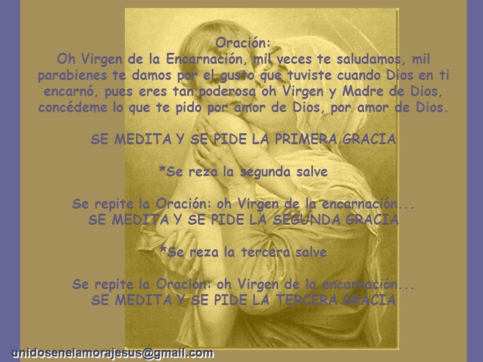 En éste día 25 de marzo, se inicia la siguiente devoción, que termina en la Navidad: CAMINATA DE VIRGEN DE LA ENCARNACIÓN *Se reza la primer salve. Di