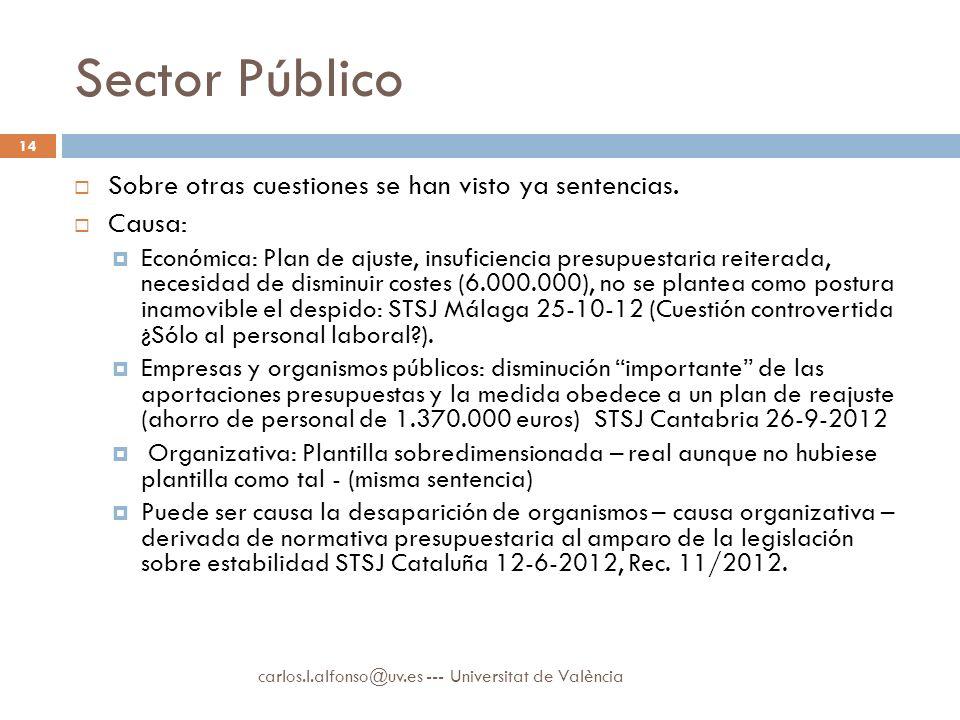 Sector Público Sobre otras cuestiones se han visto ya sentencias.