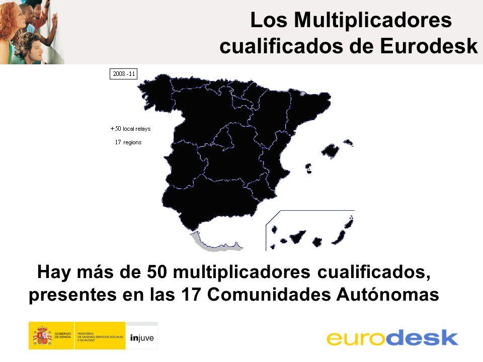 Hay más de 50 multiplicadores cualificados, presentes en las 17 Comunidades Autónomas Los Multiplicadores cualificados de Eurodesk