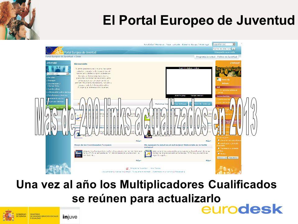 Una vez al año los Multiplicadores Cualificados se reúnen para actualizarlo El Portal Europeo de Juventud