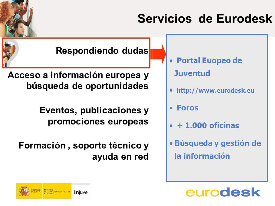 Más de 400 recursos añadidos en 2013 (y traducidos al castellano…) La Base de Datos de Eurodesk