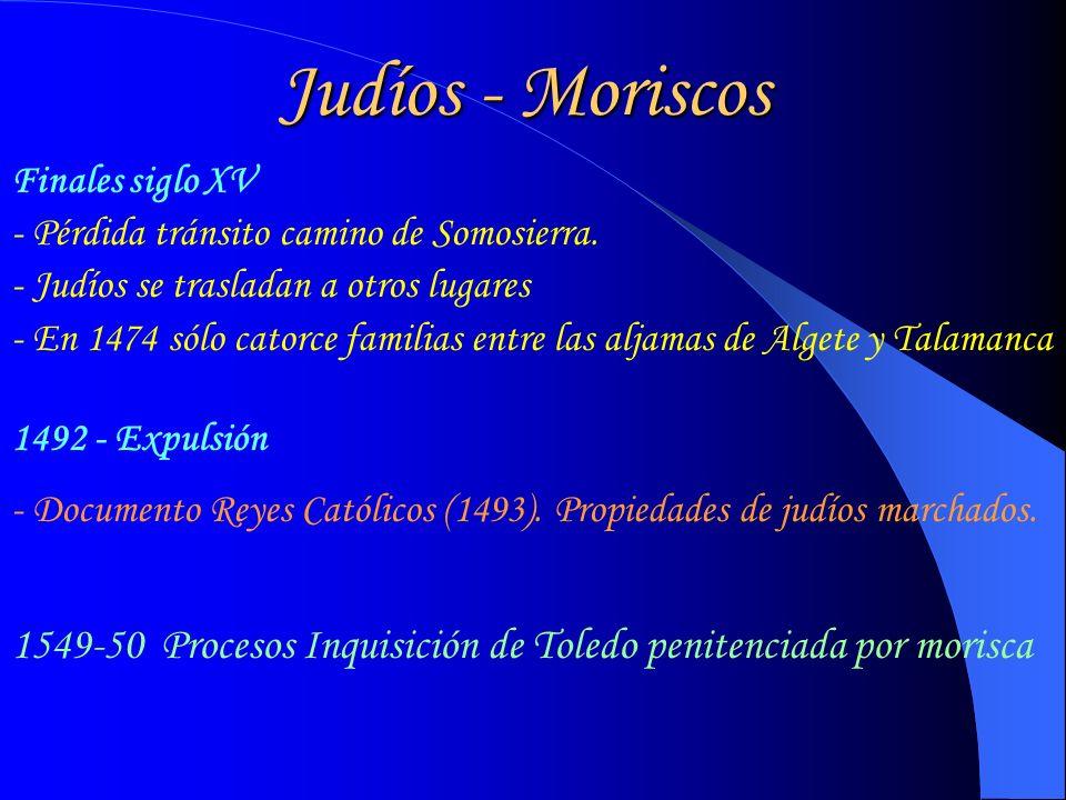 Judíos - Moriscos Finales siglo XV - Pérdida tránsito camino de Somosierra.