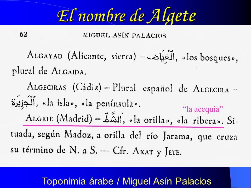 El nombre de Algete Anales IEEMM – XVIII (1981) F.