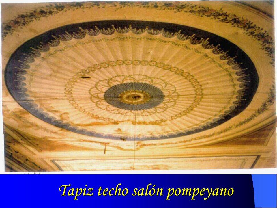 Tapiz techo salón pompeyano
