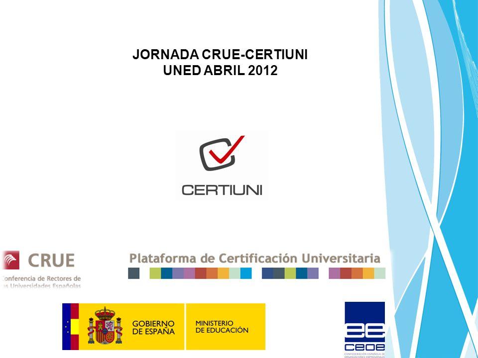 JORNADA CRUE-CERTIUNI UNED ABRIL 2012