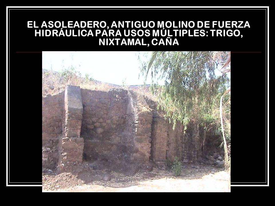 EL ASOLEADERO, ANTIGUO MOLINO DE FUERZA HIDRÁULICA PARA USOS MÚLTIPLES: TRIGO, NIXTAMAL, CAÑA