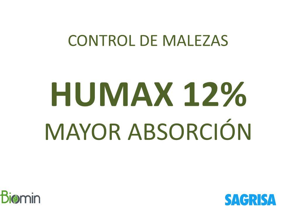 CONTROL DE MALEZAS HUMAX 12% MAYOR ABSORCIÓN SAGRISA