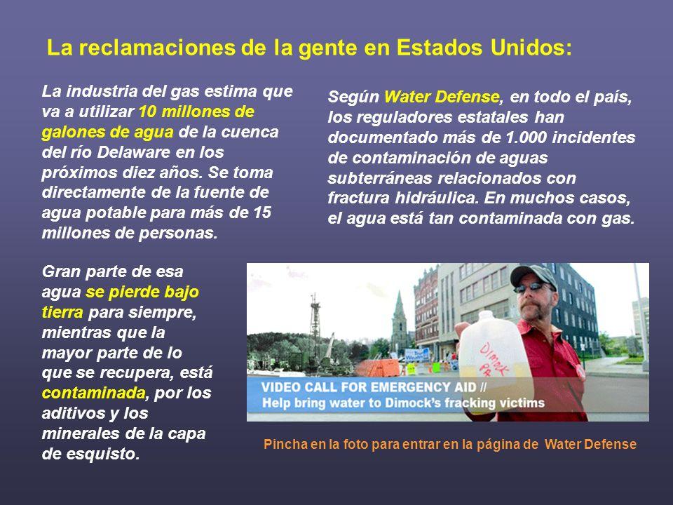 Según Water Defense, en todo el país, los reguladores estatales han documentado más de 1.000 incidentes de contaminación de aguas subterráneas relacio