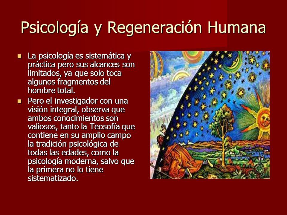 Psicología y Regeneración Humana En esta investigación su objetivo fue la integración o individuación de la naturaleza humana, que le llevó a enunciar el principio de energía psíquica, la ley de la conservación que permite comprender como el inconsciente es una función compensadora de la consciencia, la mitad del yo personal.