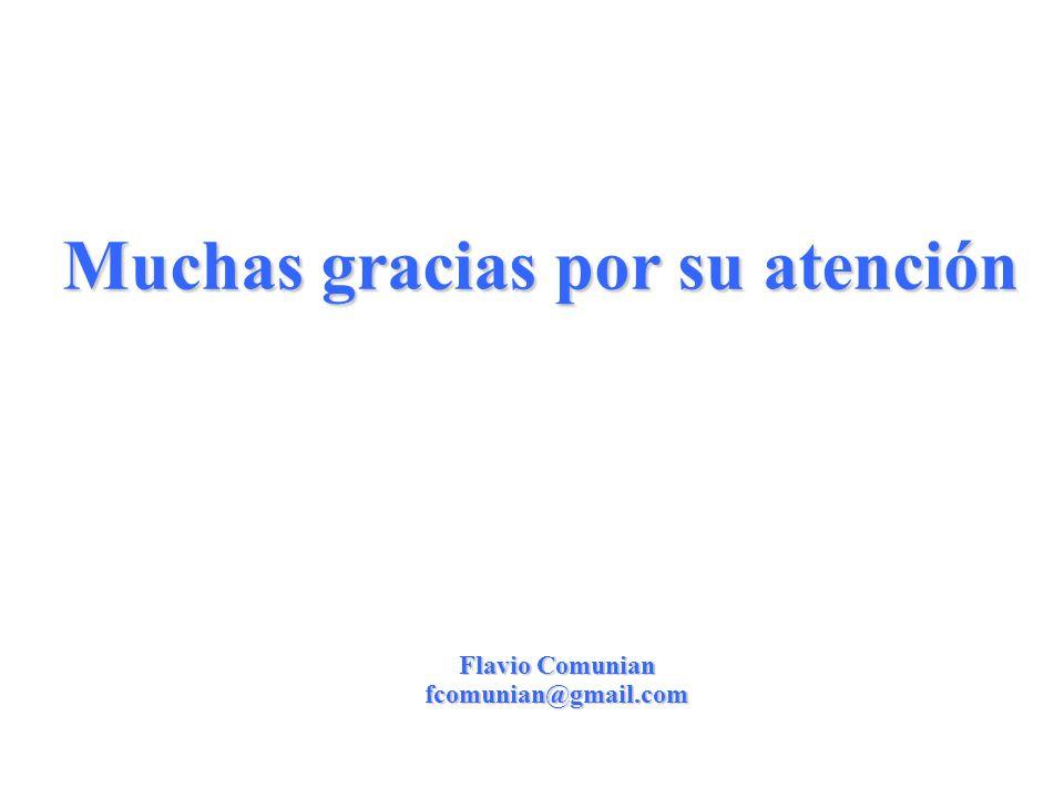 23 Muchas gracias por su atención Flavio Comunian fcomunian@gmail.com
