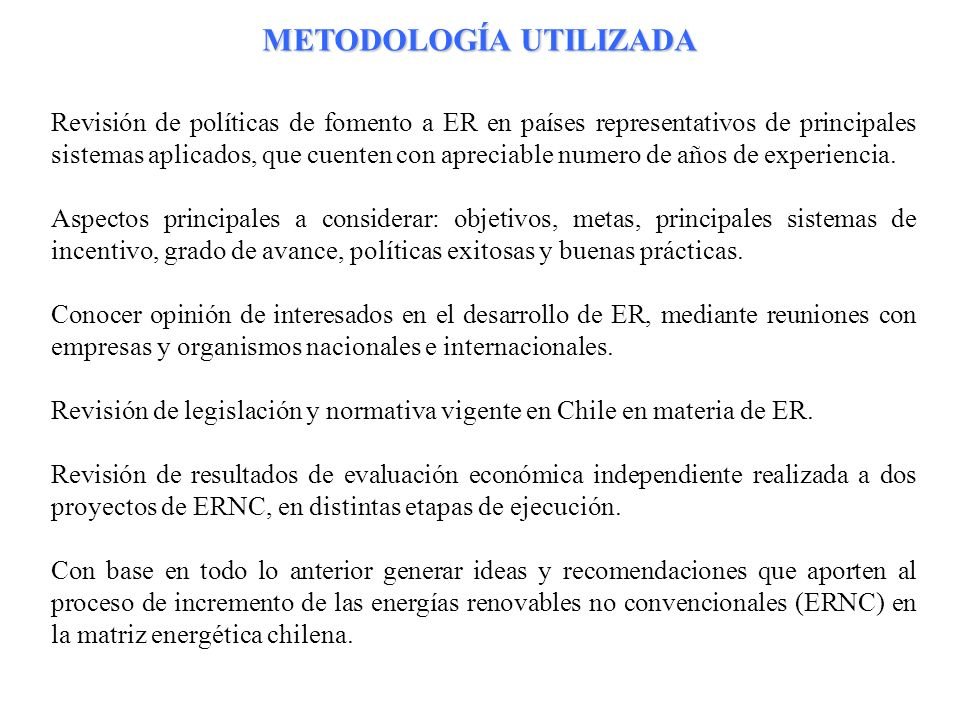 24 Revisión de políticas de fomento a ER en países representativos de principales sistemas aplicados, que cuenten con apreciable numero de años de exp