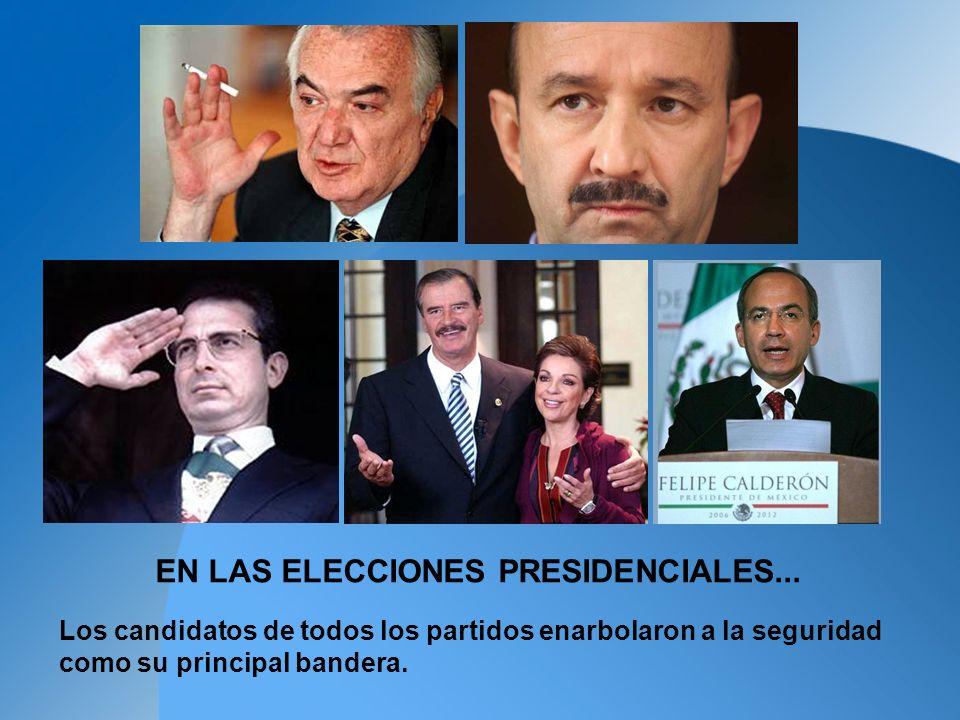 EN LAS ELECCIONES PRESIDENCIALES...