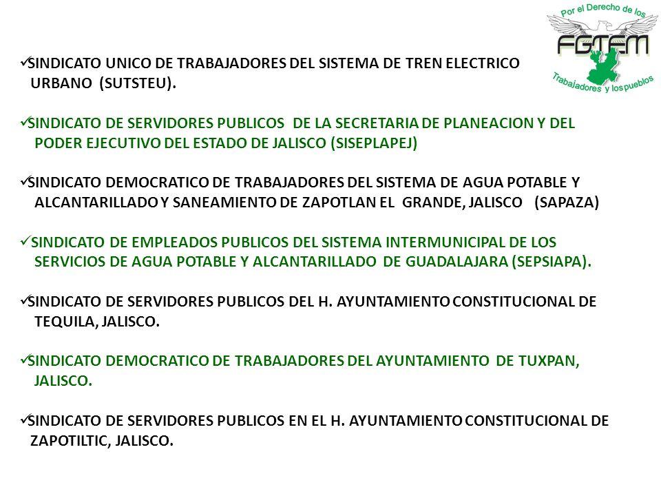 SINDICATO UNICO DE TRABAJADORES DEL SISTEMA DE TREN ELECTRICO URBANO (SUTSTEU).