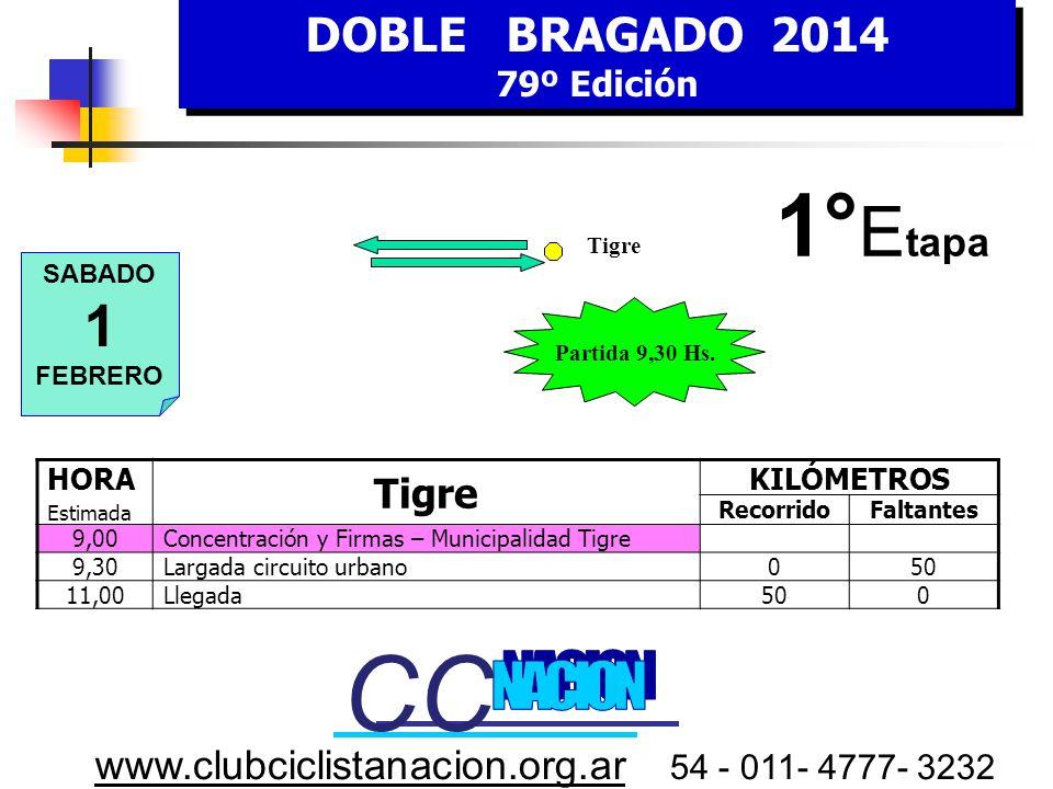 DOBLE BRAGADO 2014 79º Edición DOBLE BRAGADO 2014 79º Edición www.clubciclistanacion.org.ar 54 - 011- 4777- 3232 Equipos Participantes Municipalidad d