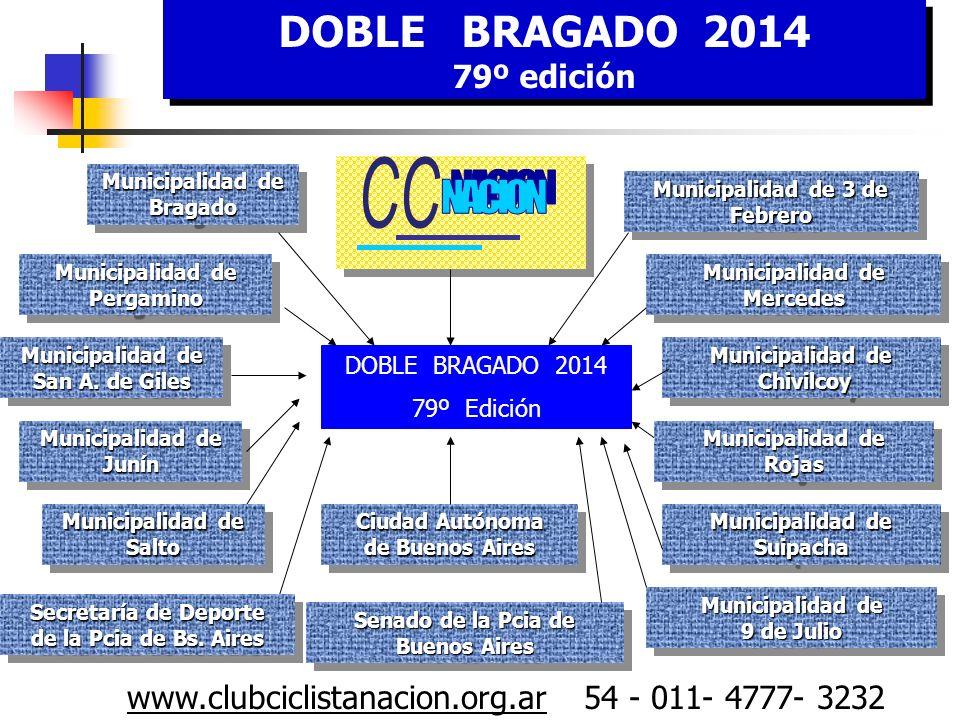 DOBLE BRAGADO 2014 79° edición DOBLE BRAGADO 2014 79° edición lub Ciclista Nación www.clubciclistanacion.org.ar 54 - 011- 4777- 3232
