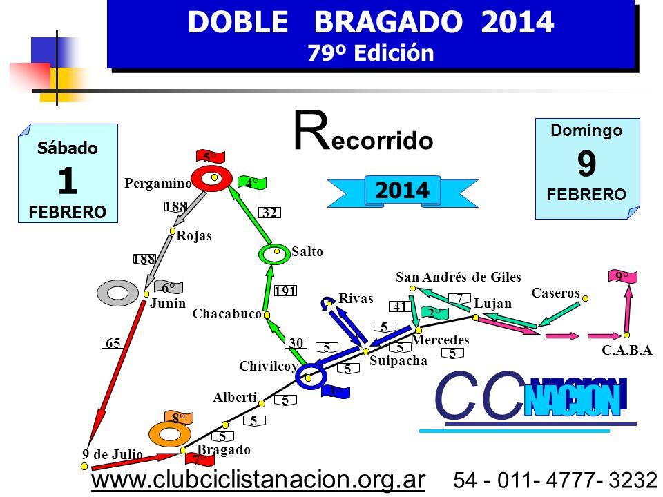 DOBLE BRAGADO 2014 79º edición DOBLE BRAGADO 2014 79º edición Municipalidad de Pergamino Senado de la Pcia de Buenos Aires Municipalidad de Suipacha S