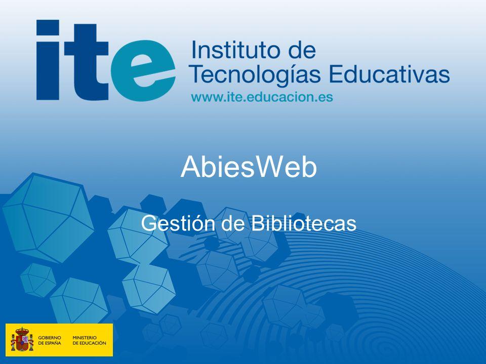 AbiesWeb Gestión de Bibliotecas