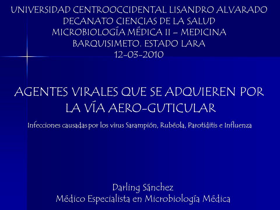 UNIVERSIDAD CENTROOCCIDENTAL LISANDRO ALVARADO DECANATO CIENCIAS DE LA SALUD MICROBIOLOGÍA MÉDICA II – MEDICINA BARQUISIMETO. ESTADO LARA 12-03-2010 I