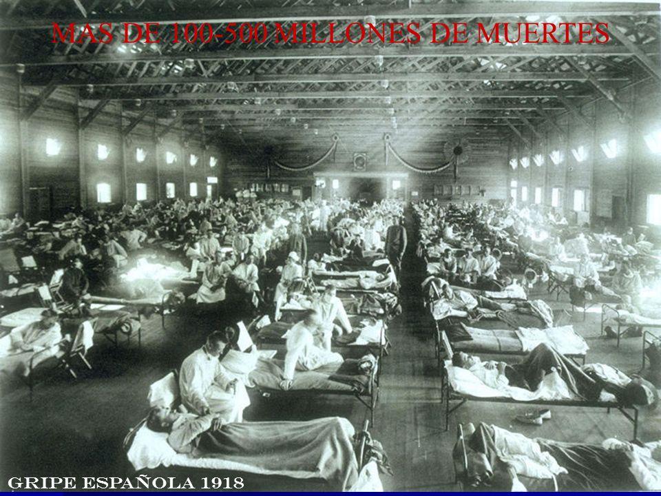 MAS DE 100-500 MILLONES DE MUERTES GRIPE ESPAÑOLA 1918