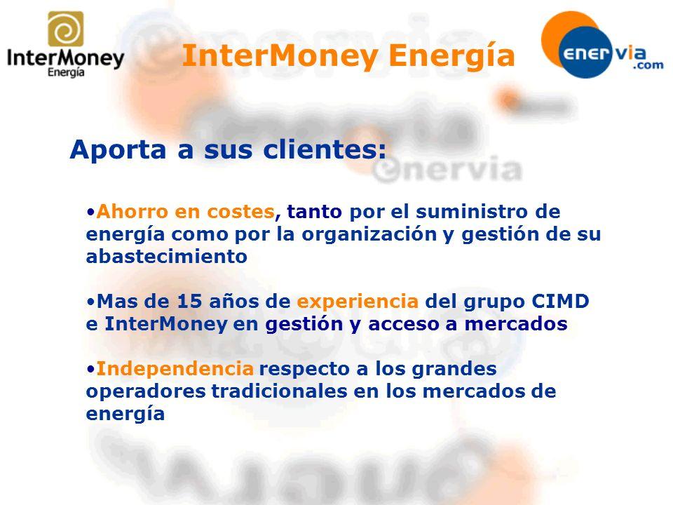 Aporta a sus clientes: Ahorro en costes, tanto por el suministro de energía como por la organización y gestión de su abastecimiento Mas de 15 años de