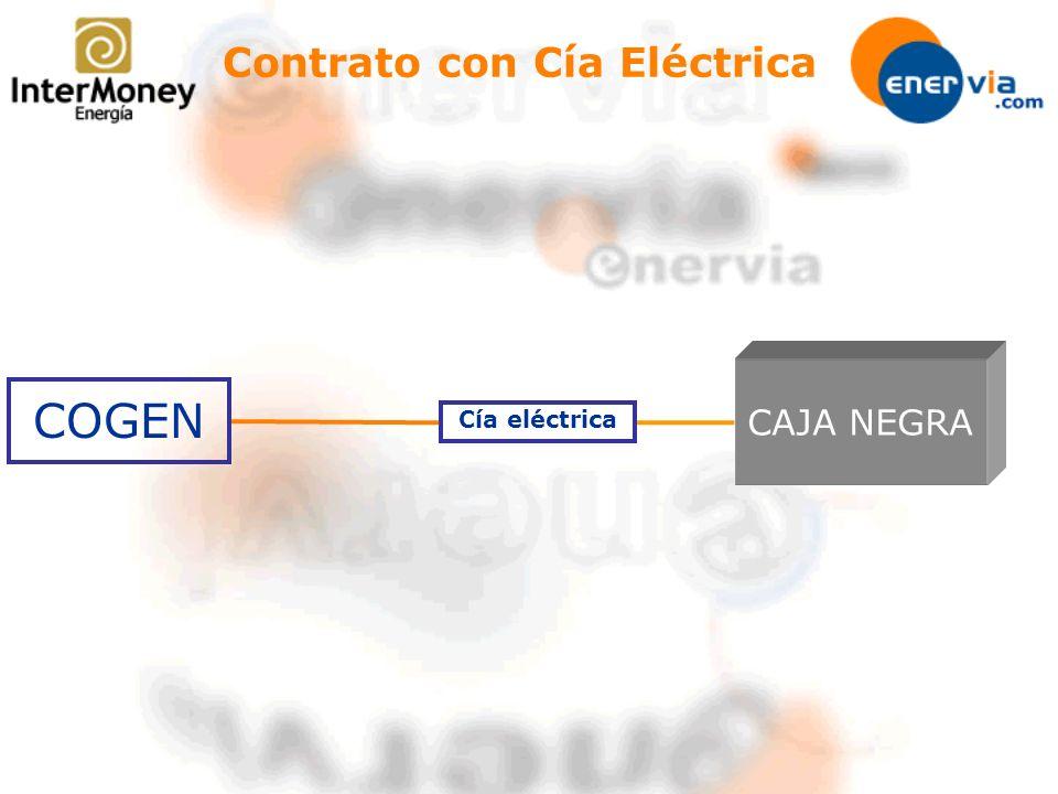 COGEN Cía eléctrica Contrato con Cía Eléctrica CAJA NEGRA