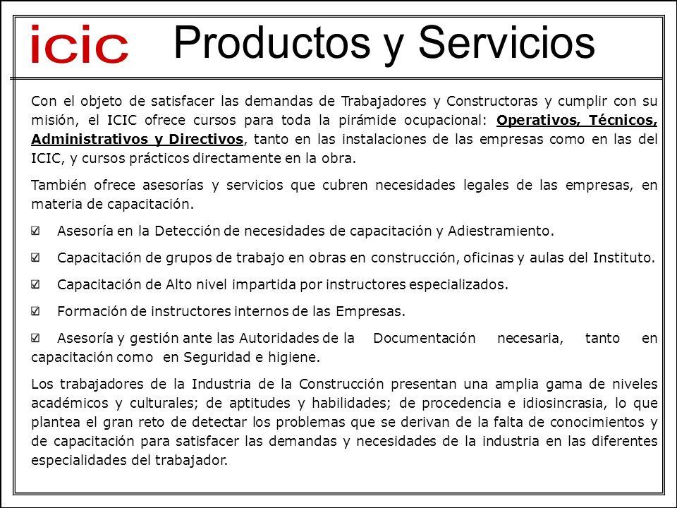 Con el objeto de satisfacer las demandas de Trabajadores y Constructoras y cumplir con su misión, el ICIC ofrece cursos para toda la pirámide ocupacio