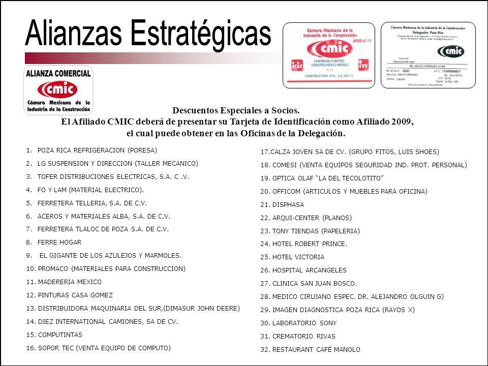 1. POZA RICA REFRIGERACION (PORESA) 2. LG SUSPENSION Y DIRECCION (TALLER MECANICO) 3. TOFER DISTRIBUCIONES ELECTRICAS, S.A. C.V. 4. FO Y LAM (MATERIAL
