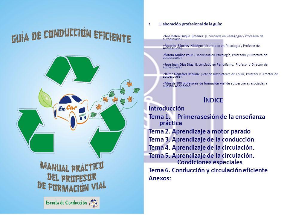 Elaboración profesional de la guía: Ana Belén Duque Jiménez: (Licenciada en Pedagogía y Profesora de autoescuela). Antonio Sánchez Hidalgo: (Licenciad