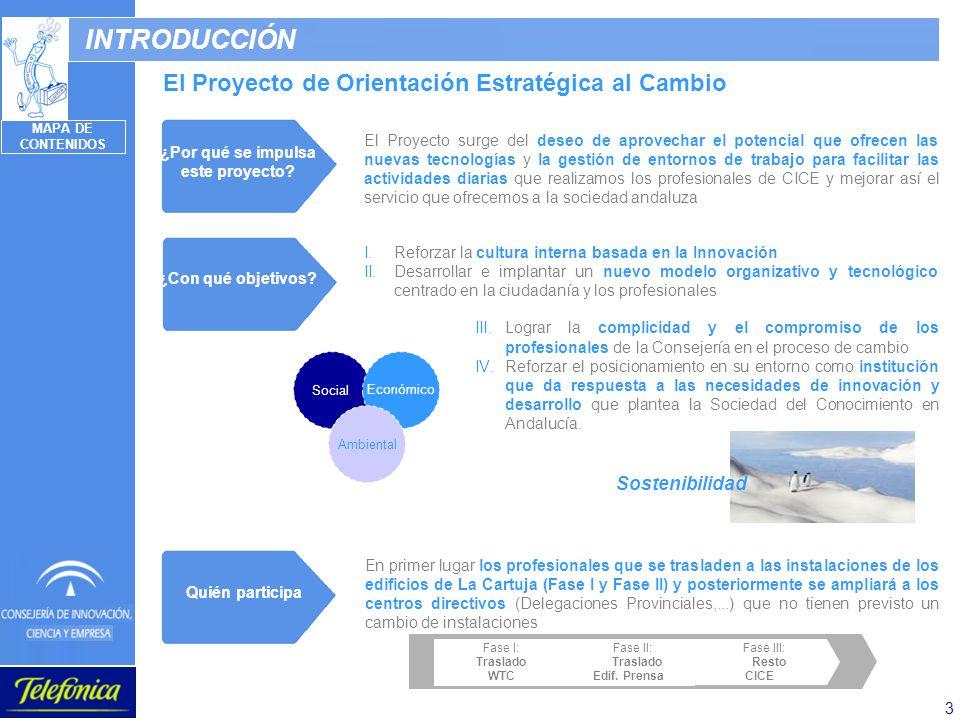 3 INTRODUCCIÓN El Proyecto de Orientación Estratégica al Cambio Lograr la complicidad y el compromiso de los profesionales de la Consejería en el proc