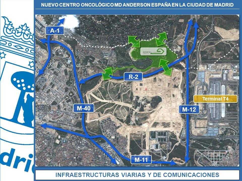 NUEVO CENTRO ONCOLÓGICO MD ANDERSON ESPAÑA EN LA CIUDAD DE MADRID INFRAESTRUCTURAS VIARIAS Y DE COMUNICACIONES