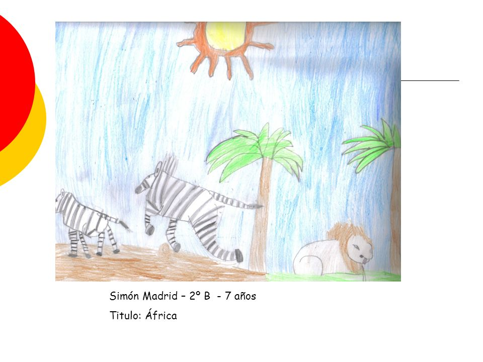 Simón Madrid – 2º B - 7 años Titulo: África