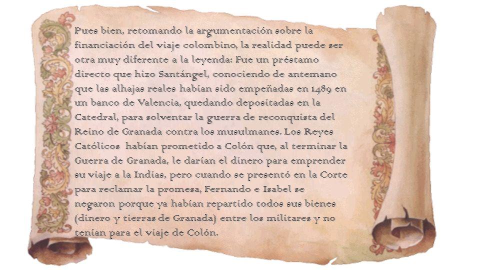 Colón expone su plan ante la reina y la Corte Colón expone su plan ante la reina y la Corte