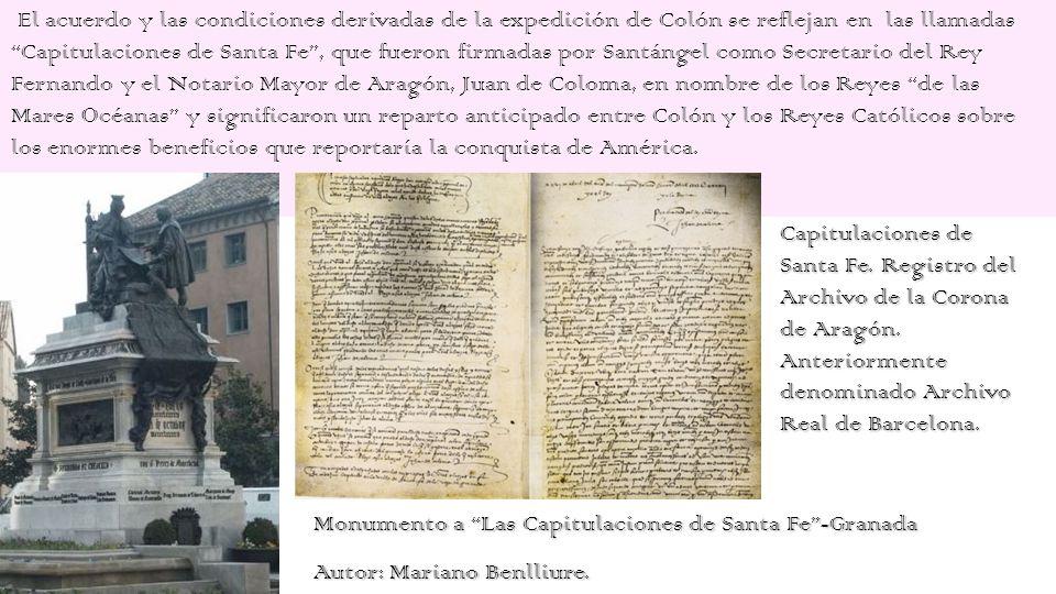 Y porque los reyes no tenían dinero para despachar a Colón,(el coste de la expedición fue estimado en 2.000.000 de maravedís, más el sueldo de Colón.)