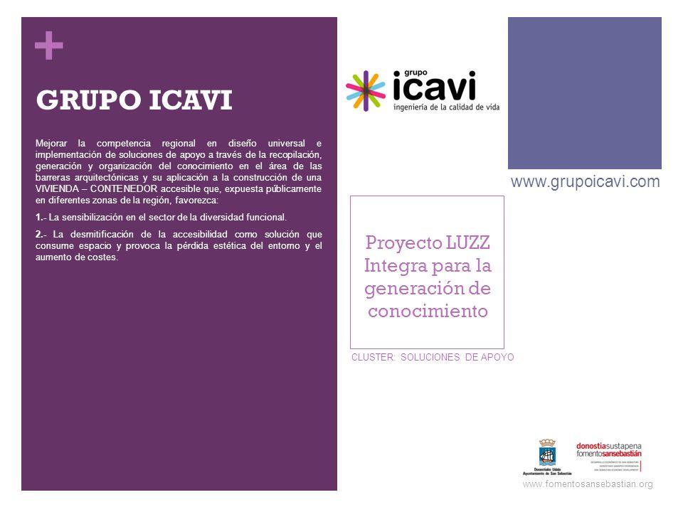 + GRUPO ICAVI Mejorar la competencia regional en diseño universal e implementación de soluciones de apoyo a través de la recopilación, generación y or