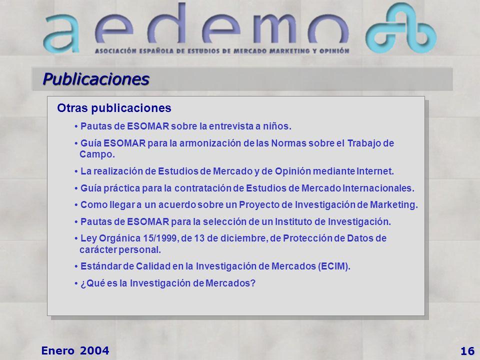 Publicaciones Otras publicaciones Pautas de ESOMAR sobre la entrevista a niños.