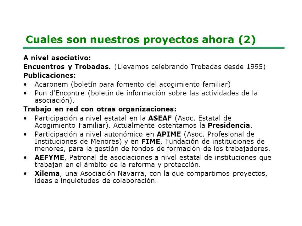 Cuales son nuestros proyectos ahora (2) A nivel asociativo: Encuentros y Trobadas.