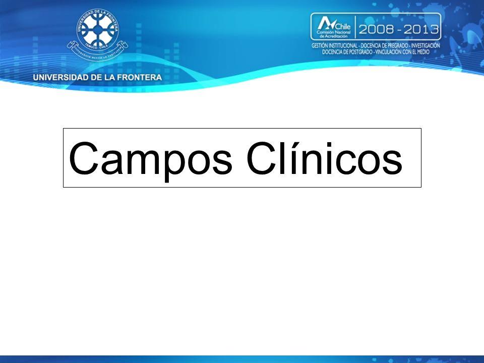 Coordinación Campos Clínicos Dr. Patricio Valdés Dr. Cesar Torres Enf. Marcela Lema