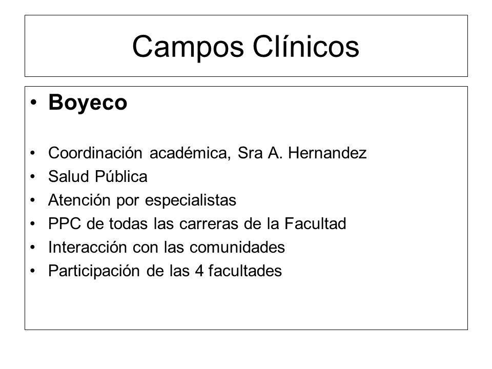 Coordinación de Campos Clínicos 1.- Se firmaron convenios con el Servicio de Salud de Aysen (área Tecn.