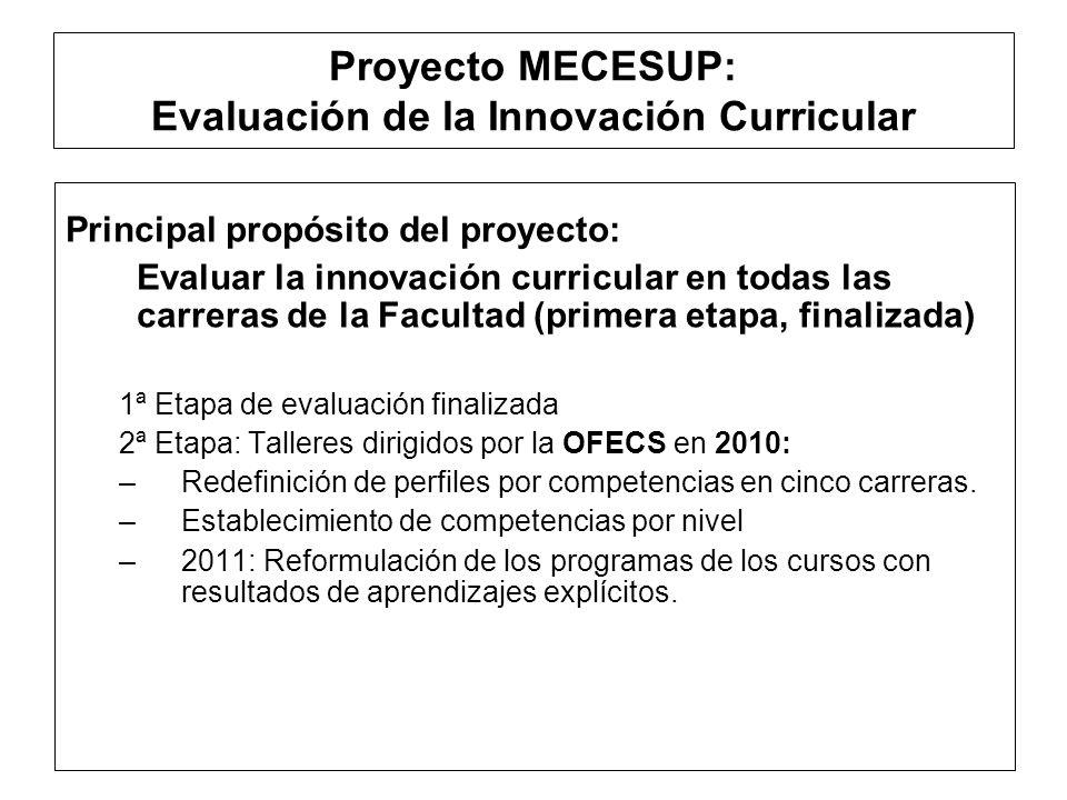Proyecto MECESUP: Asistencias Técnicas Asistencia Técnica : Desarrollo de competencias genéricas Profesor Jacques Tardif, Universidad de Sherbrooke, Montreal, Canadá.
