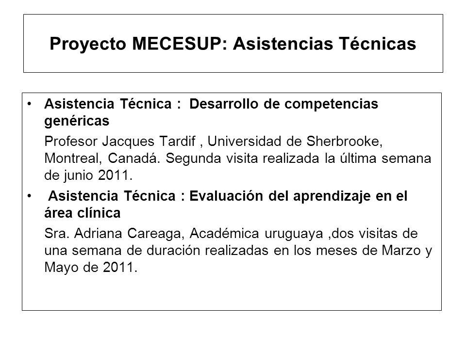 Proyecto MECESUP: Becas asignadas Doctorado en Salud Pública en Chile Académico Juan José Orellana, actualmente cursa el Programa de Doctorado en Salud Pública de la Universidad de Chile a partir de Marzo de 2011 Pasantía de 2 meses en Bioética en Chile Académica Sra.
