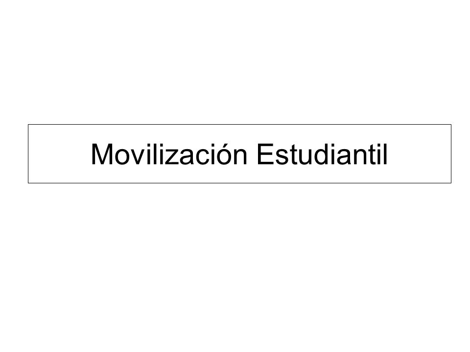 Movilización Estudiantil